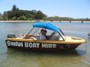 Swan Boat Hire - Accommodation Nelson Bay