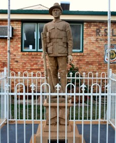 Soldier Statue Memorial Chinchilla - Accommodation Nelson Bay