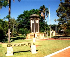 Esk War Memorial and Esk Memorial Park - Accommodation Nelson Bay