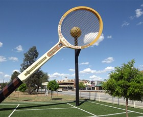 Barellans Big Tennis Racquet - Accommodation Nelson Bay