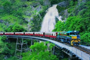 Full-Day Tour with Kuranda Scenic Railway Skyrail Rainforest Cableway and Hartley's Crocodile Adventures from Cairns - Accommodation Nelson Bay