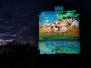 Quorn Silo Light Show - Accommodation Nelson Bay