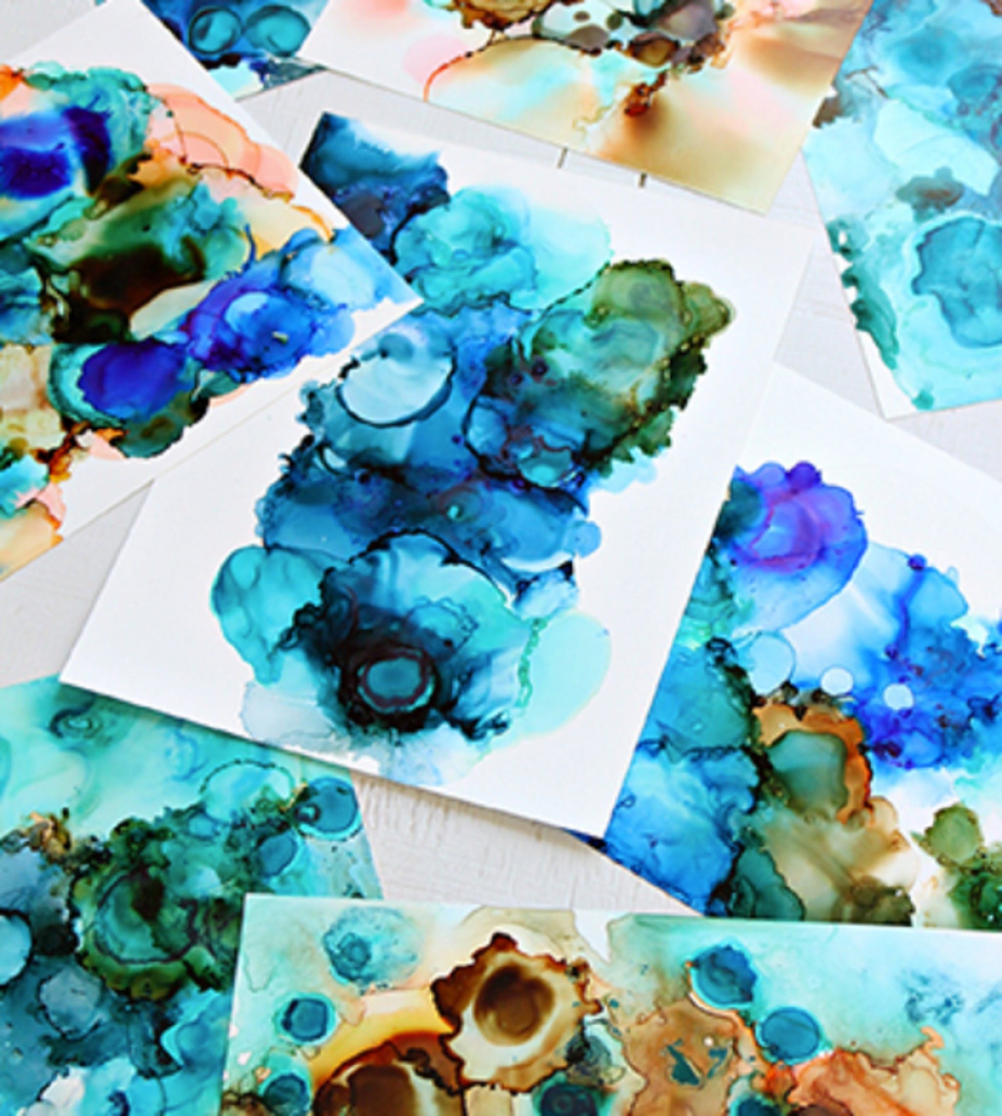 Alcohol Ink Art Class - Accommodation Nelson Bay